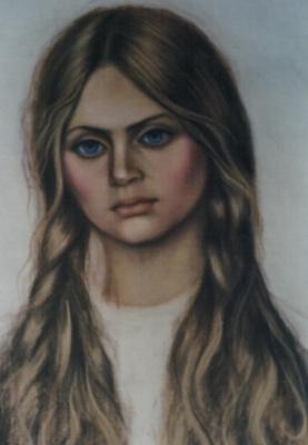 Galina Petrovna Khmelevskaya. Girl with braids