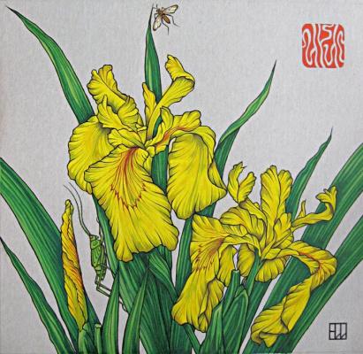 Natalia Vladimirovna Plastinina. Irises for Irina