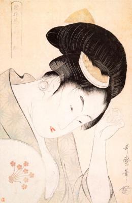 Kitagawa Utamaro. Woman with head down