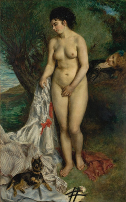 Pierre-Auguste Renoir. Nude with a griffin
