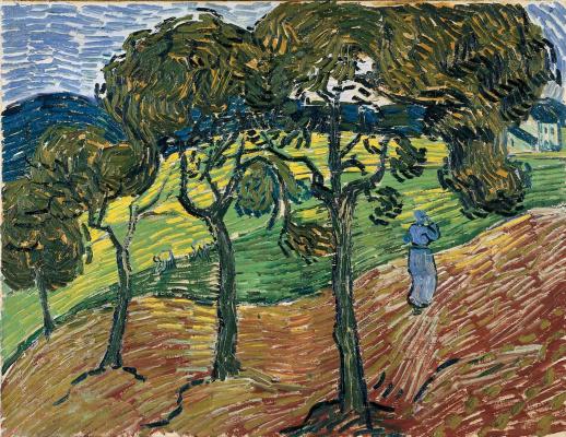 Винсент Ван Гог. Пейзаж с фигурами