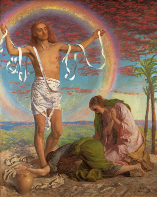William Holman Hunt. Jesus Christ and Mary two