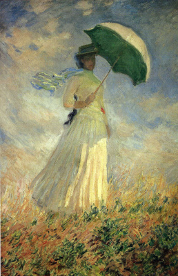 Woman with a Parasol, facing right. A study