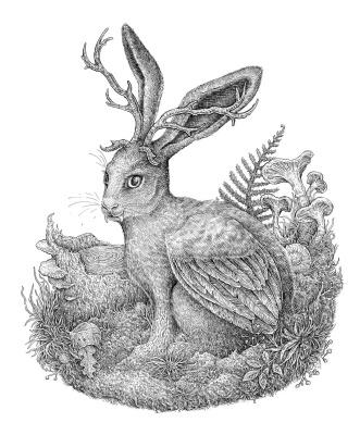 Eugene Batyrova-Gauss. Horned hare