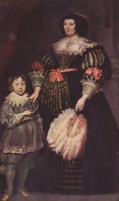 Антонис ван Дейк. Портрет Шарлотты Баткинс, леди Аной, с сыном