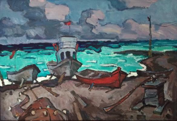 Unknown artist. Sea shore
