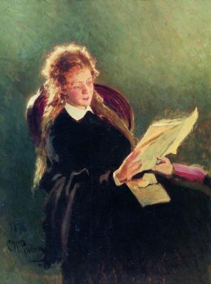 Илья Ефимович Репин. Читающая девушка