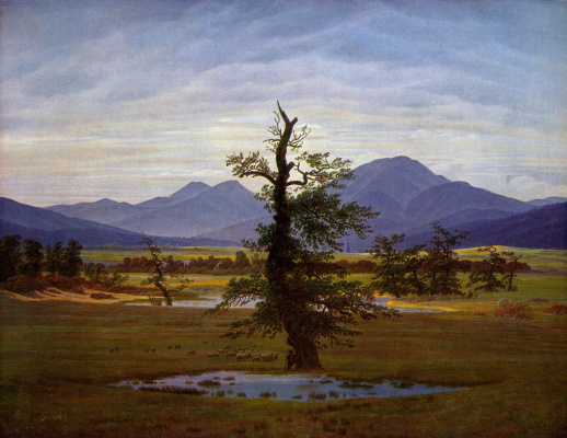 Caspar David Friedrich. Lonely tree