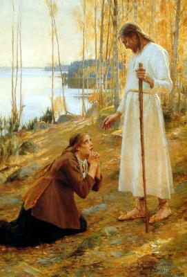 Альберт Густав Аристид Эдельфельт. Иисус и Магдалена