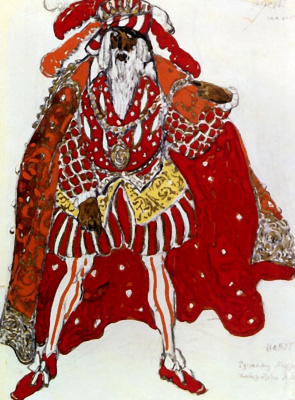 "Lev Samoilovich Bakst (Leon Bakst). Costume design for the ballet ""Legend of Joseph"""