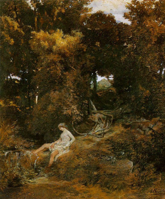 Arnold Böcklin. In the woods