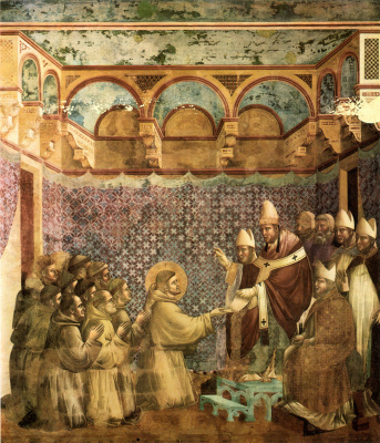 Giotto di Bondone. Confirmation of the charter. The Legend of Saint Francis
