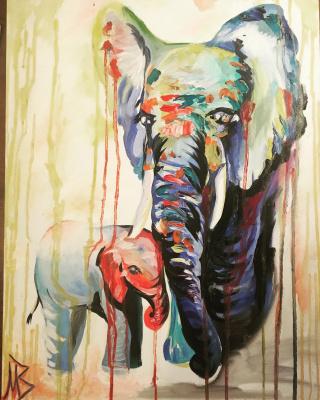 Виктория Махмудова. Слоны
