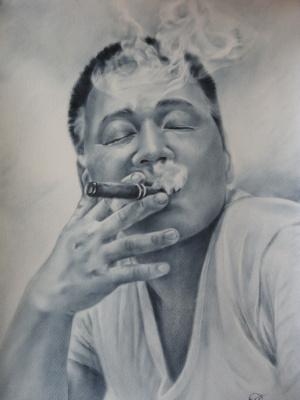 Хельга Эдуардовна Григорьева. The man with the cigar.Graphics.