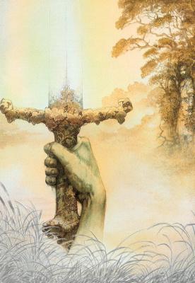 Юлек Хеадон Деидр Хеллер. Иллюстрации к книге Рыцари. Артур 02