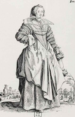 Жак Калло. Дама в платье с высоким воротником