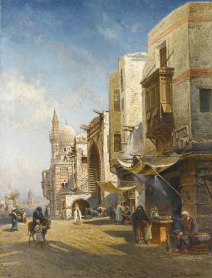 Николай Егорович Маковский. Улица в Каире