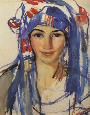 Zinaida Serebryakova. Self-portrait in a scarf