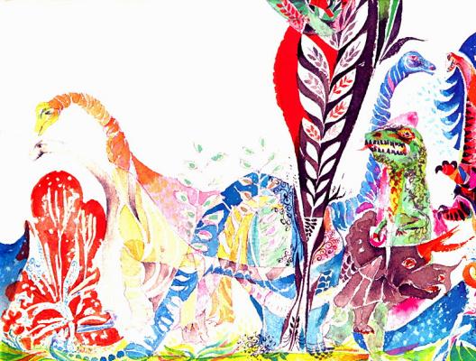 Эрни Кабат. Яркие динозавры