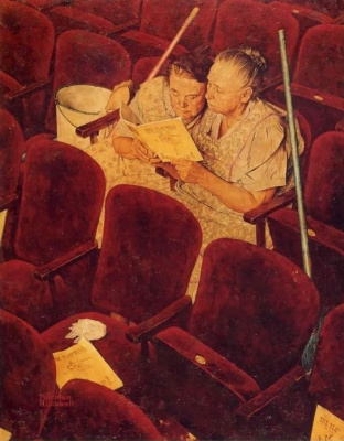 Norman Rockwell. In the theater