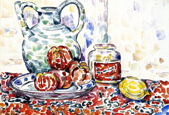 Paul Signac. Still life with jug