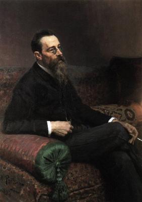 Ilya Efimovich Repin. Portrait of composer N. Rimsky-Korsakov
