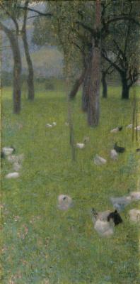 Gustav Klimt. After the rain (Garden with chickens in St. Agatha)