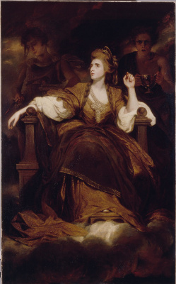 Joshua Reynolds. Portrait of Sarah Siddons in the form of the tragic Muse