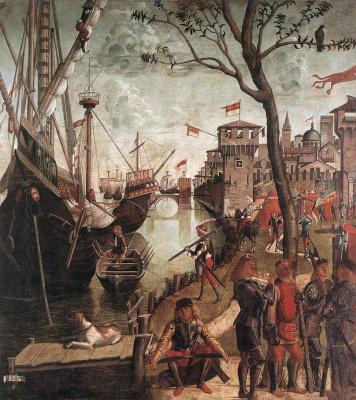 Vittore Carpaccio. The arrival of the pilgrims in Cologne