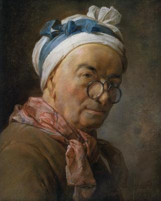 Jean Baptiste Simeon Chardin. Self-portrait with glasses