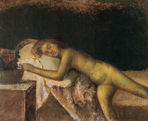 Balthus (Balthasar Klossovsky de Rola). Sleeping nude
