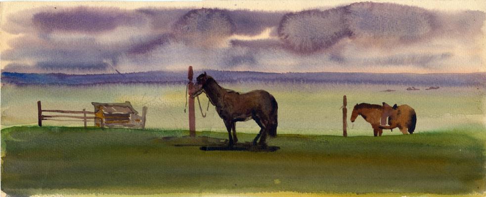 Balto Lyksokov. In the steppe