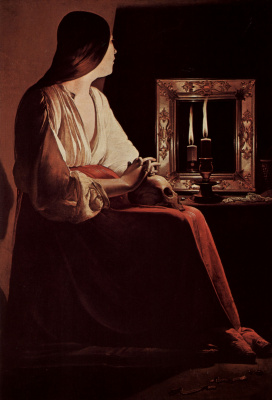 Georges de La Tour. The Penitent Magdalene