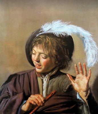 Поющий мальчик с флейтой