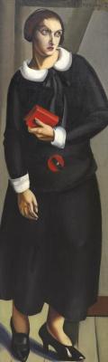 Тамара Лемпицка. Женщина в черном платье. 1923
