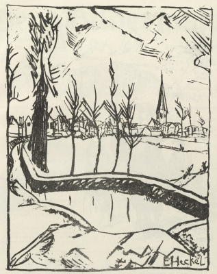 Erich Heckel. The view of the city of Ghent