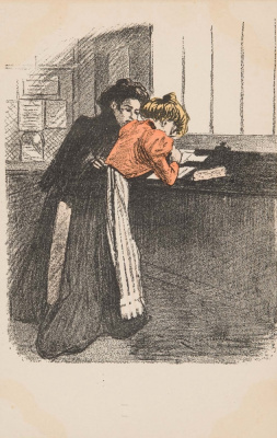 Theophile-Alexander Steinlen. At the cash register