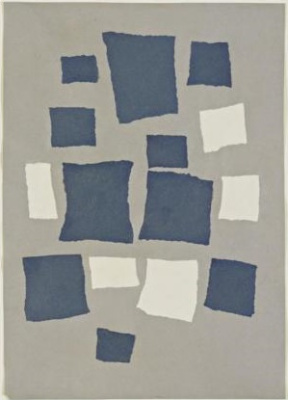 Jean Arp. The squares are placed according to the laws of probability