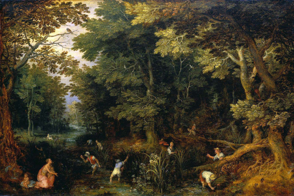 Jan Bruegel The Elder. Farmers