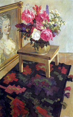 Александр Александрович Дейнека. Цветы на ковре