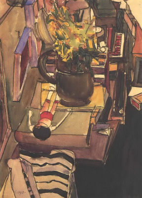Egon Schiele. In the artist's Atelier