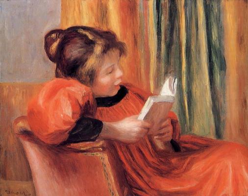 Pierre-Auguste Renoir. Girl reading