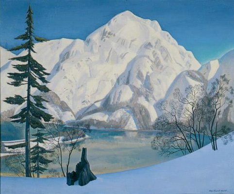 Rockwell Kent. Alaska. The view from Fox island in the winter