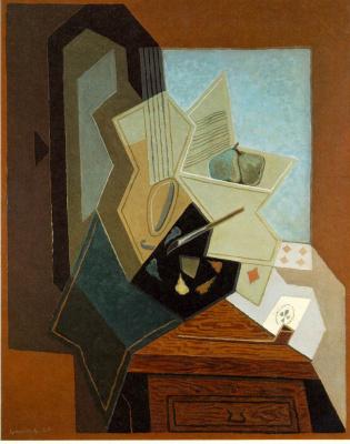 Juan Gris. Window in artist's Studio