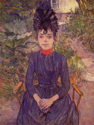 "Henri de Toulouse-Lautrec. Portrait of Justine die in the garden ""Per fora"""