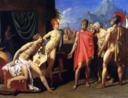 Jean Auguste Dominique Ingres. Achilles and Agamemnon