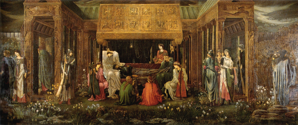 Edward Coley Burne-Jones. King Arthur's Last Dream in Avalon