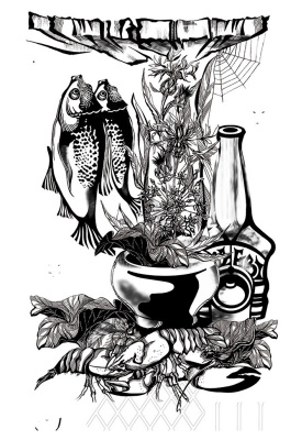 Tatyana Aleksandrovna Nikanorova. Fishing still life