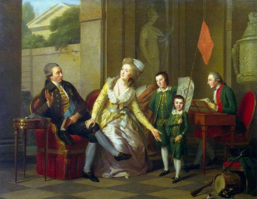 Иоганн Фридрих Август Тишбейн. Портрет семьи Салтыковых