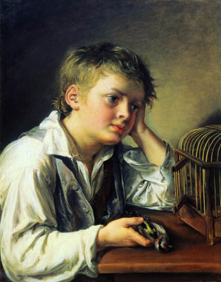 Vasily Andreevich Tropinin. Boy with a dead goldfinch